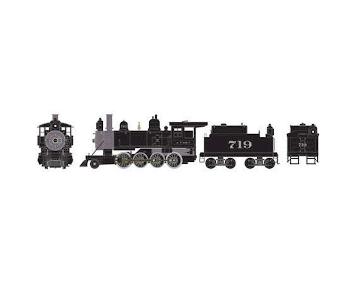 HO RTR Old Time 2-8-0 w/DCC & Sound, SF #719 by Athearn