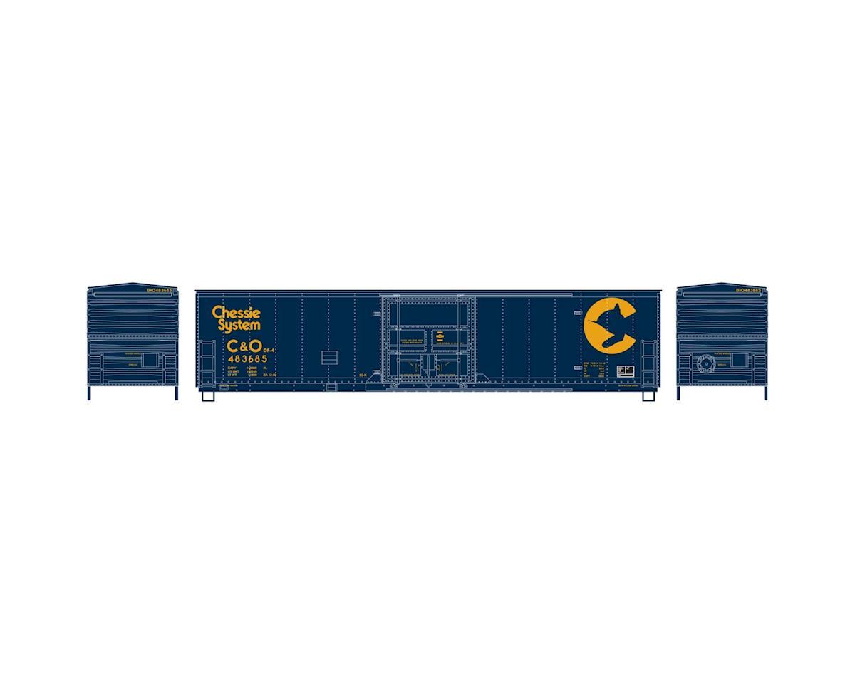 Athearn HO RTR 50' Superior Door Box, Chessie/C&O #897937