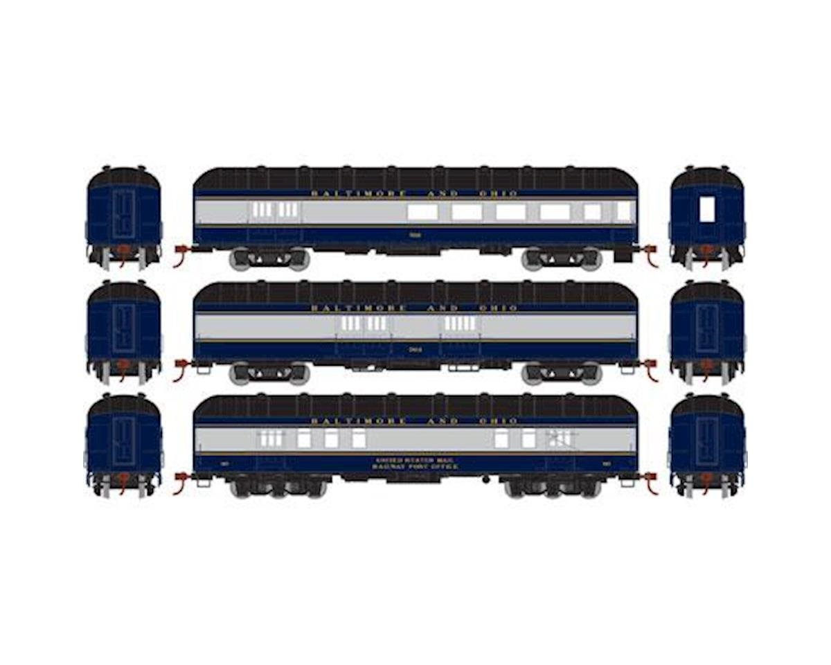 Athearn HO RTR Arch Roof Set, B&O (3)