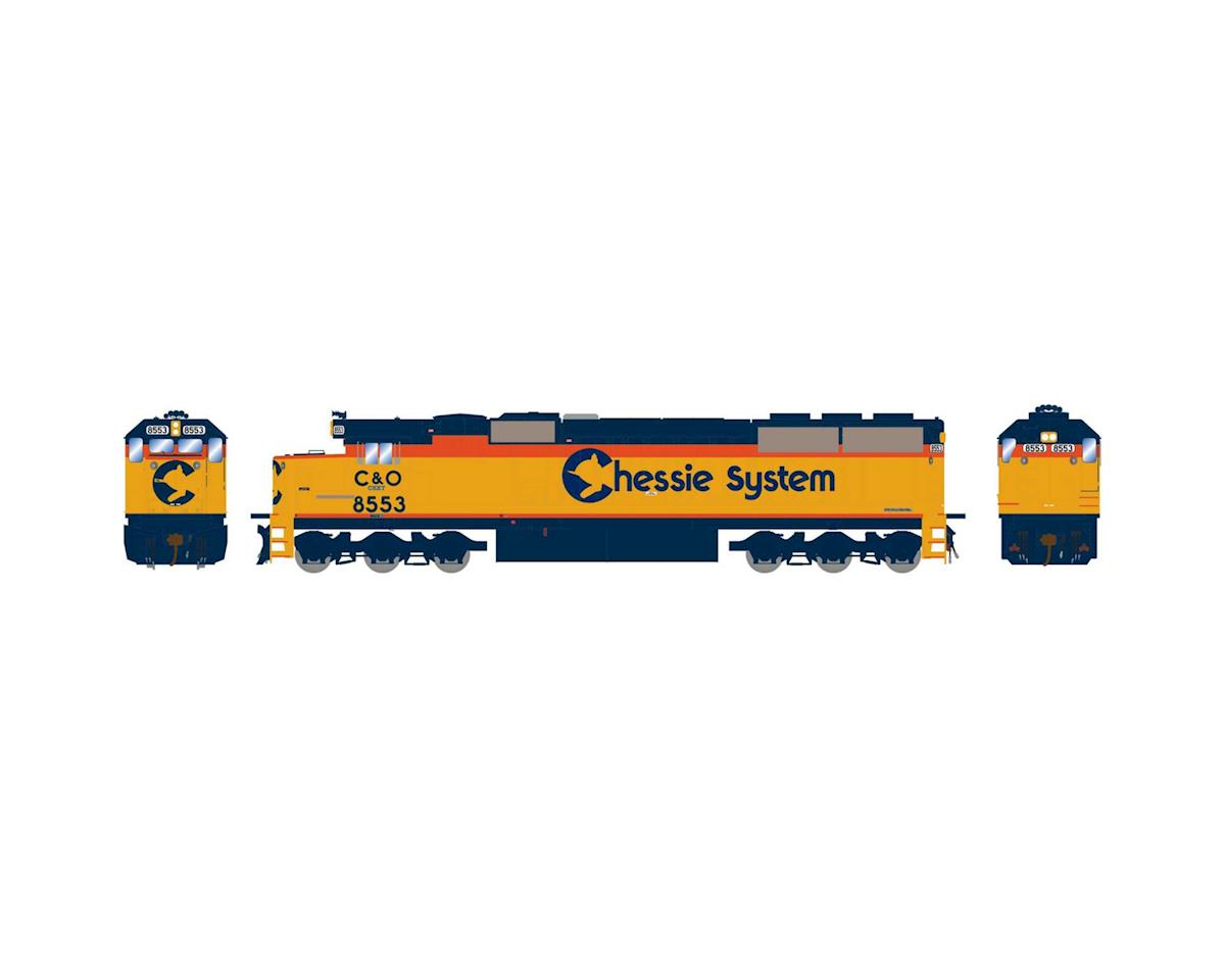 Athearn HO RTR SD50, CSX/Chessie Patched #8553