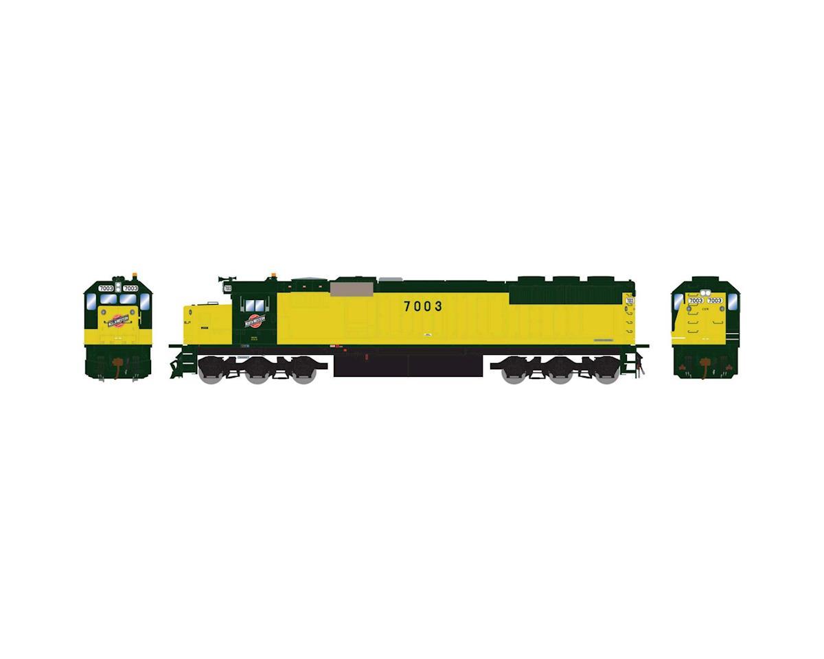 Athearn HO RTR SD50 w/DCC & Sound, C&NW/Zito Yellow #7003