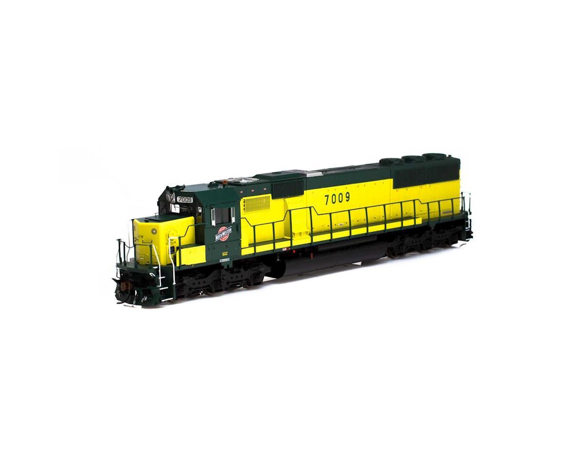Athearn HO RTR SD50 w/DCC & Sound, C&NW/Zito Yellow #7009