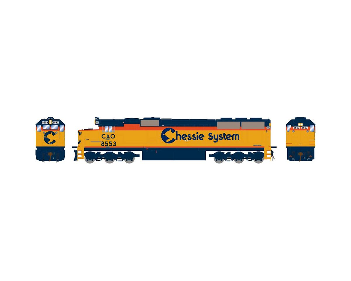 Athearn HO RTR SD50 w/DCC & Sound,CSX/Chessie Patched#8553