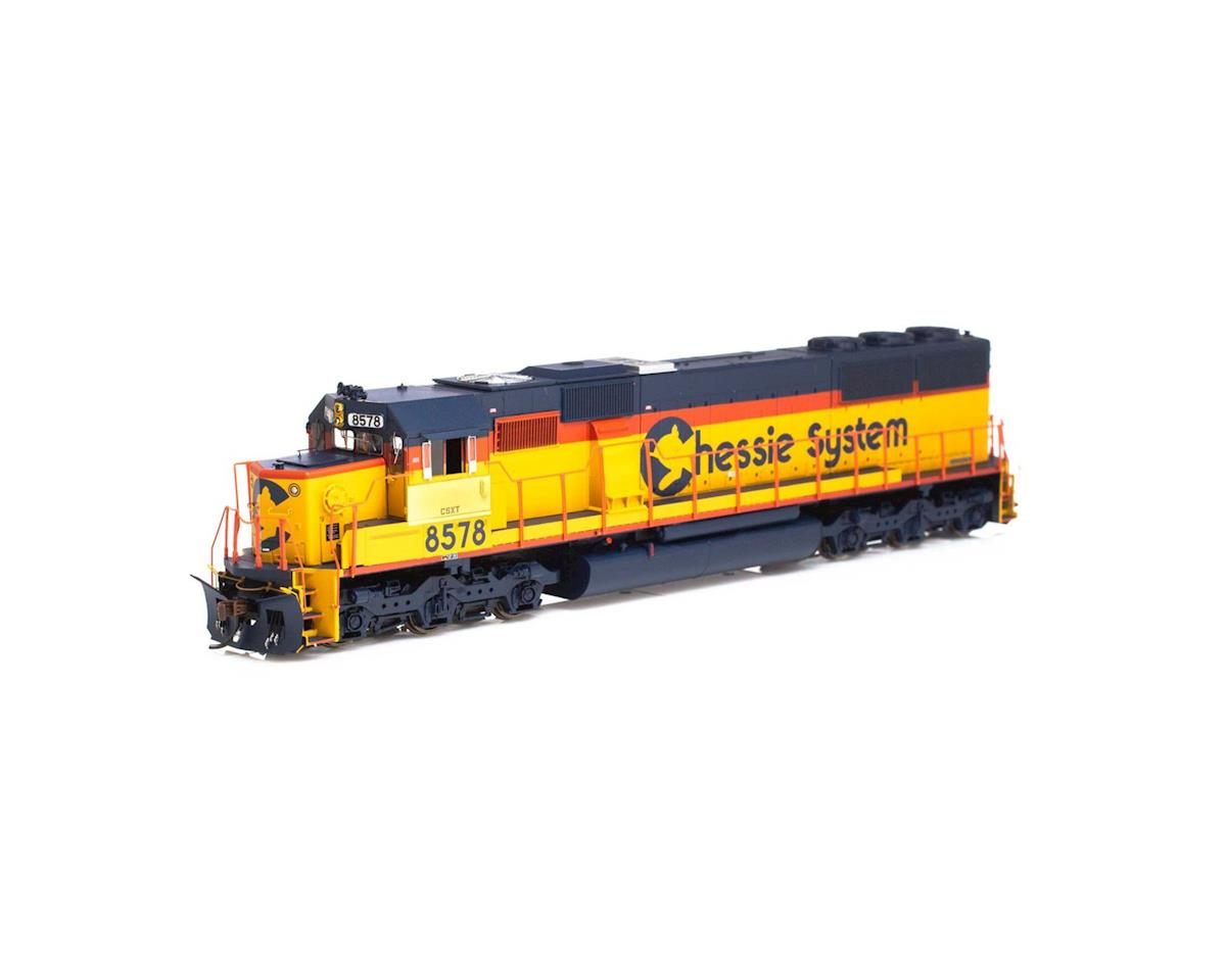 Athearn HO RTR SD50 w/DCC & Sound,CSX/Chessie Patched#8578