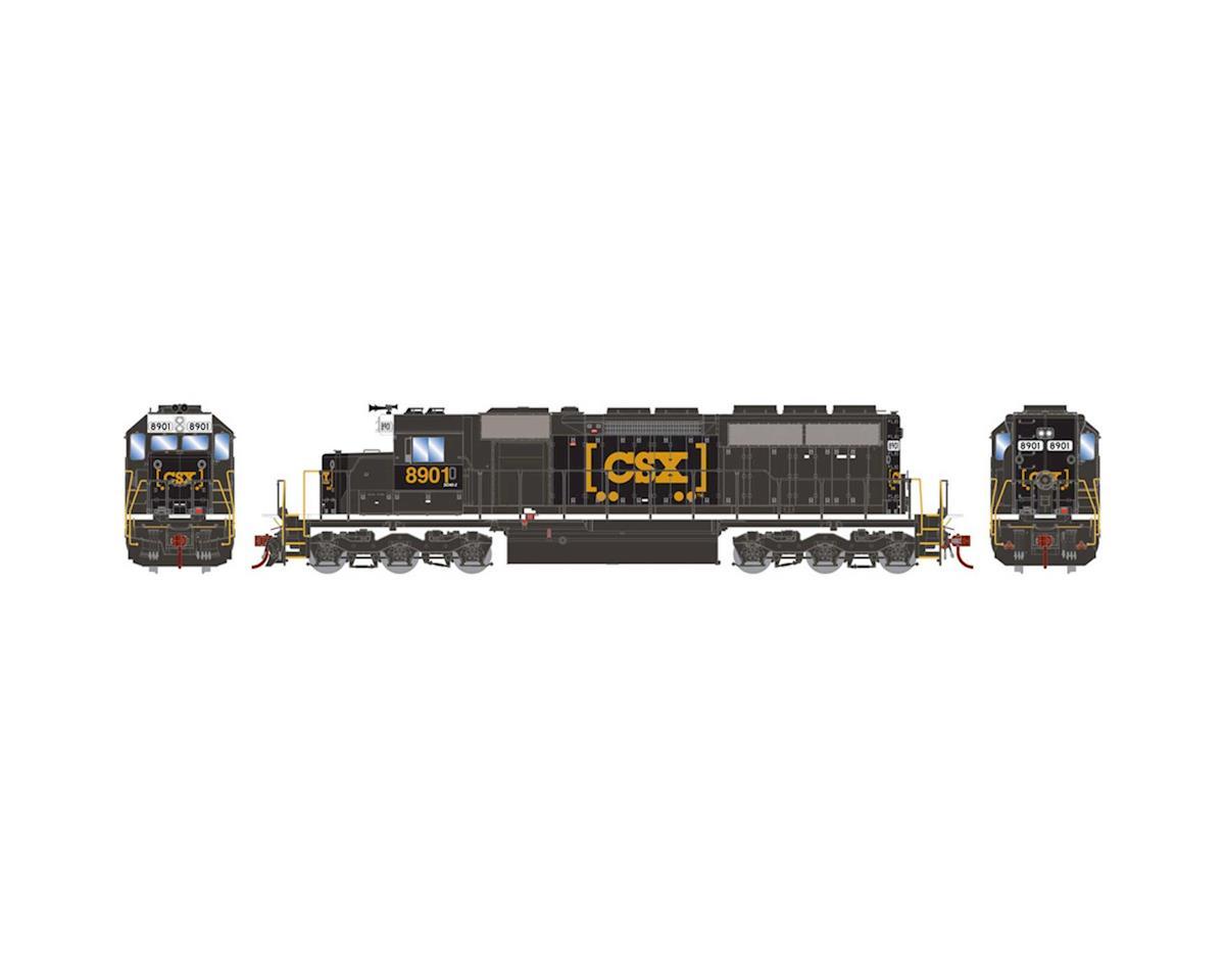 Athearn HO RTR SD40/DCC & SND,CSX/Black/Boxcar Logo #8901