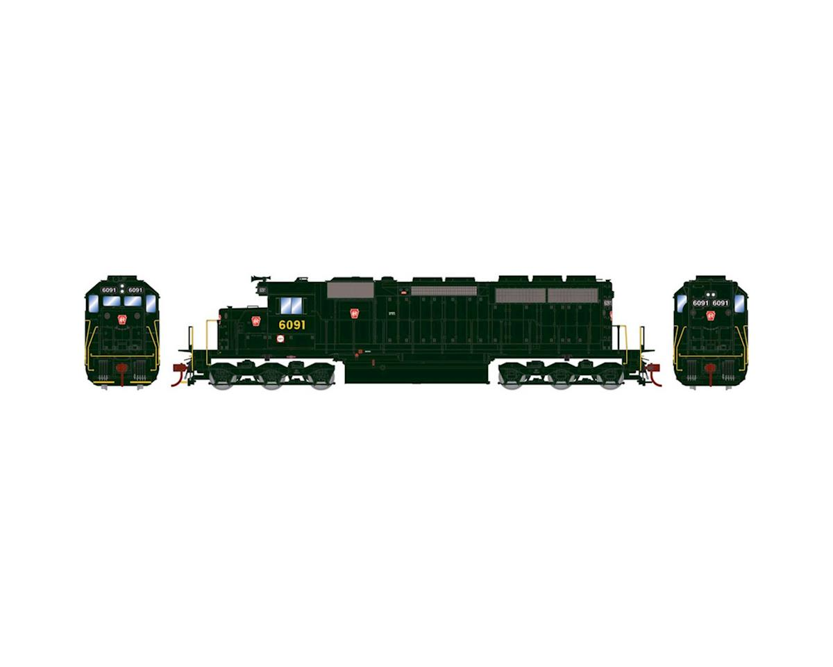 Athearn HO RTR SD40 w/DCC & Sound, PRR/Dark Green #6091