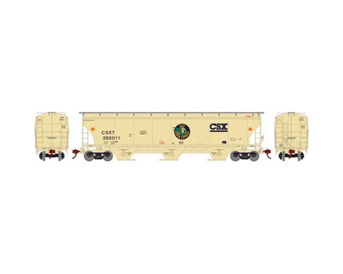 Athearn HO RTR Trinity 3-Bay Hopper,CSX/Grain Exp #265011