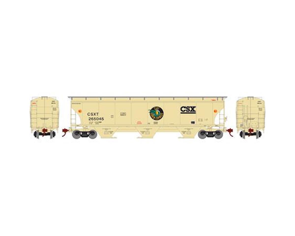 Athearn HO RTR Trinity 3-Bay Hopper,CSX/Grain Exp #265145