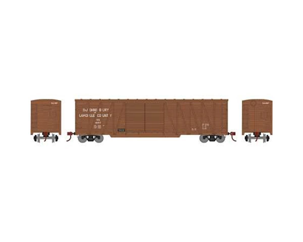 Athearn HO RTR 50' Single Sheathed Box, SJ&L #2027