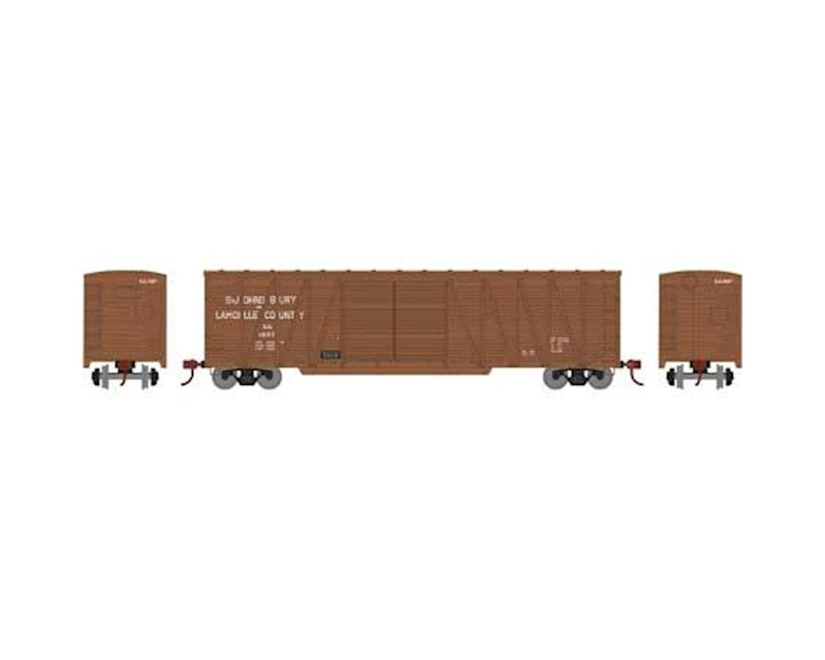 Athearn HO RTR 50' Single Sheathed Box, SJ&L #2027