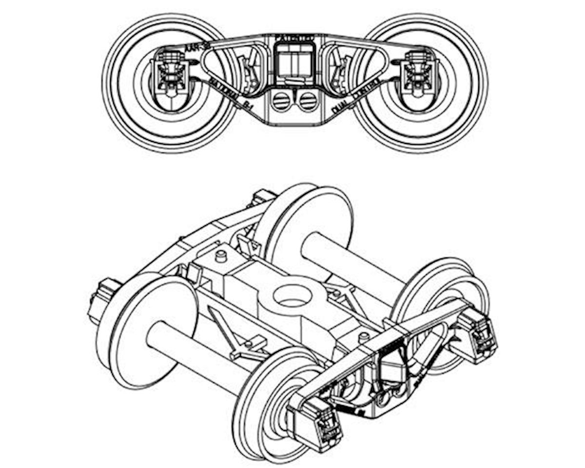 "Athearn HO 70-Ton National B-1 Truck w/33"" Wheels (2Pr)"