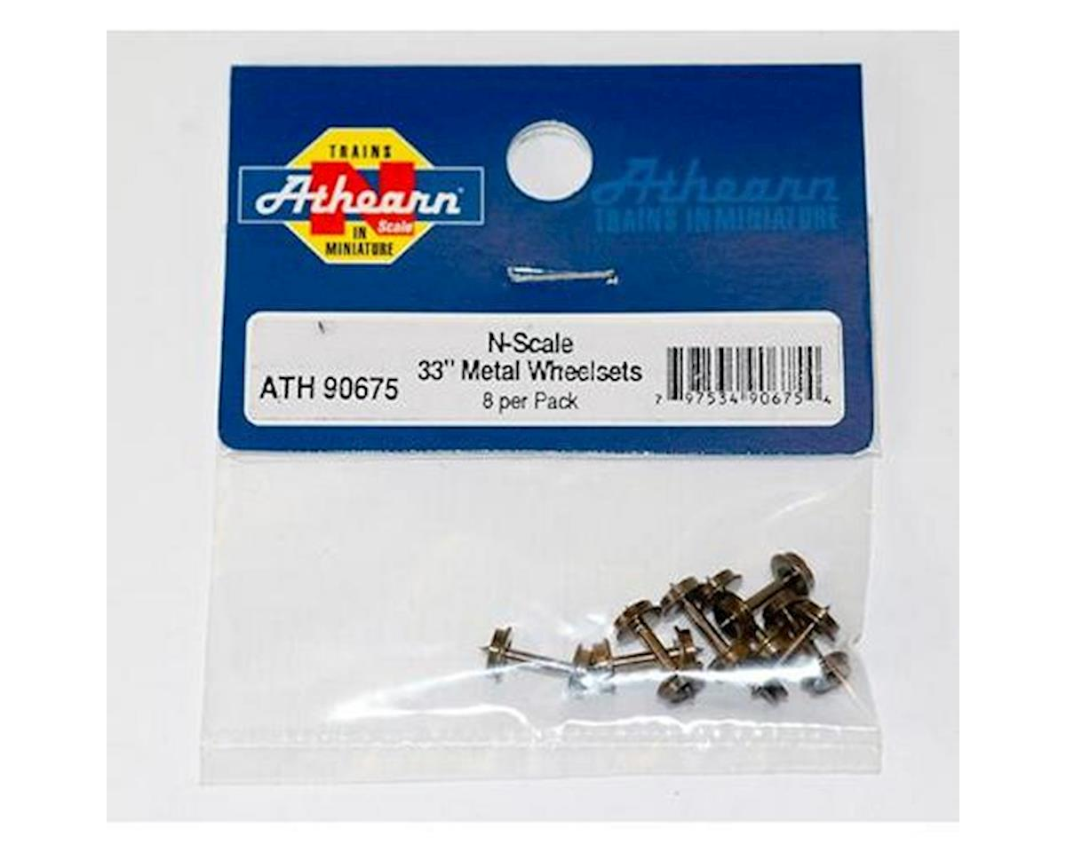 "N 33"" METAL WHEEL SETS (8) by Athearn"