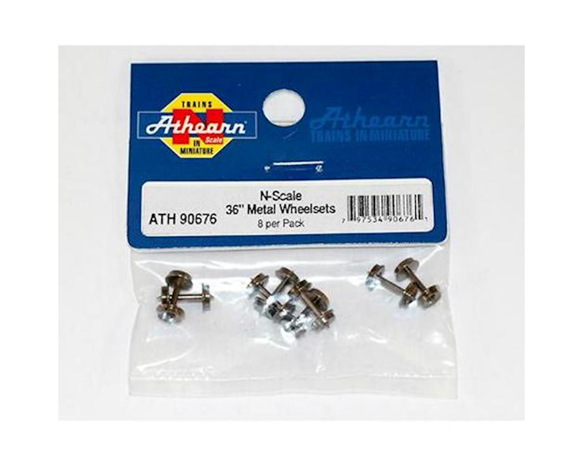"Athearn N 36"" METAL WHEEL SET (8)"