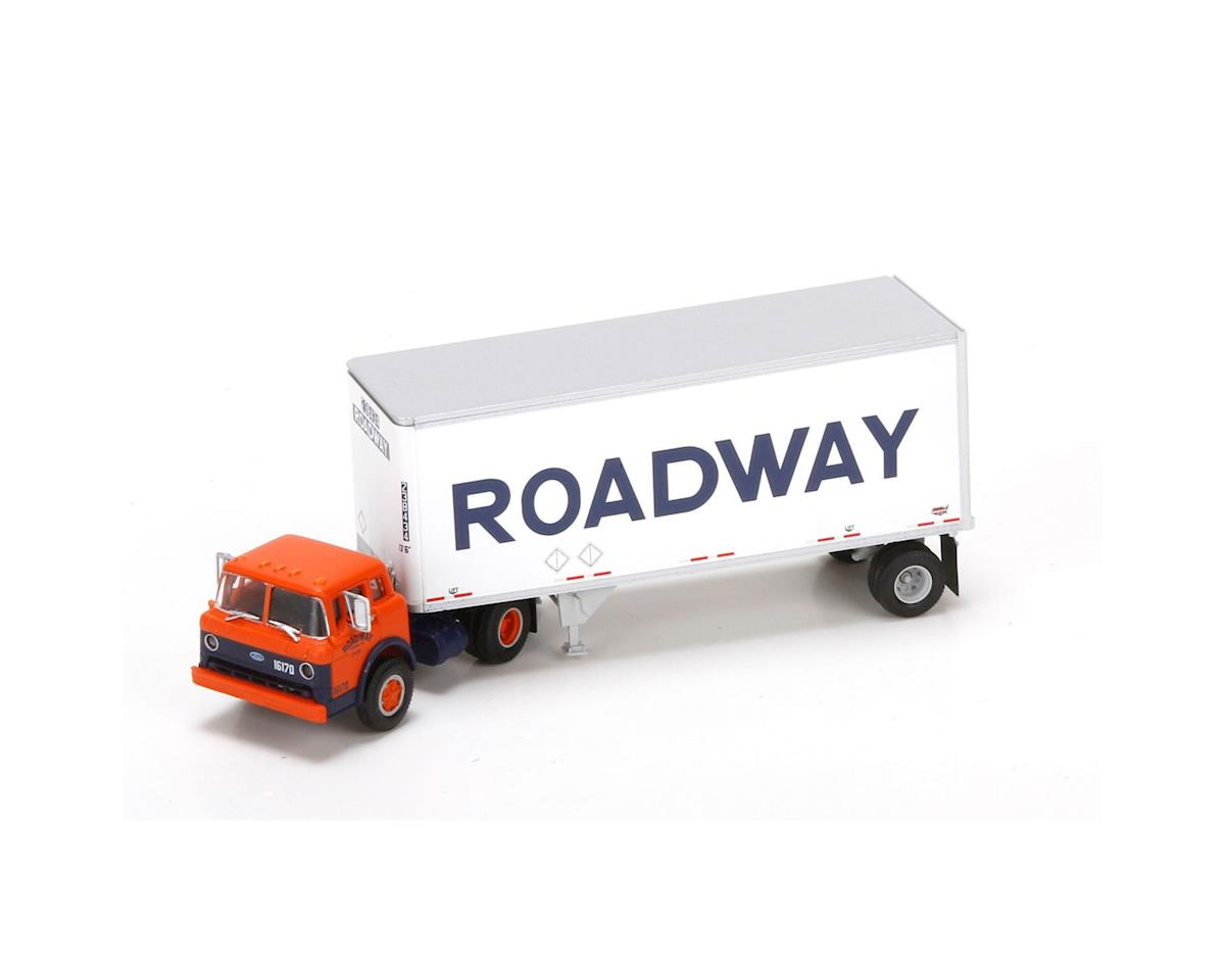 Athearn HO RTR Ford C w/28' Smooth Trailer, Roadway