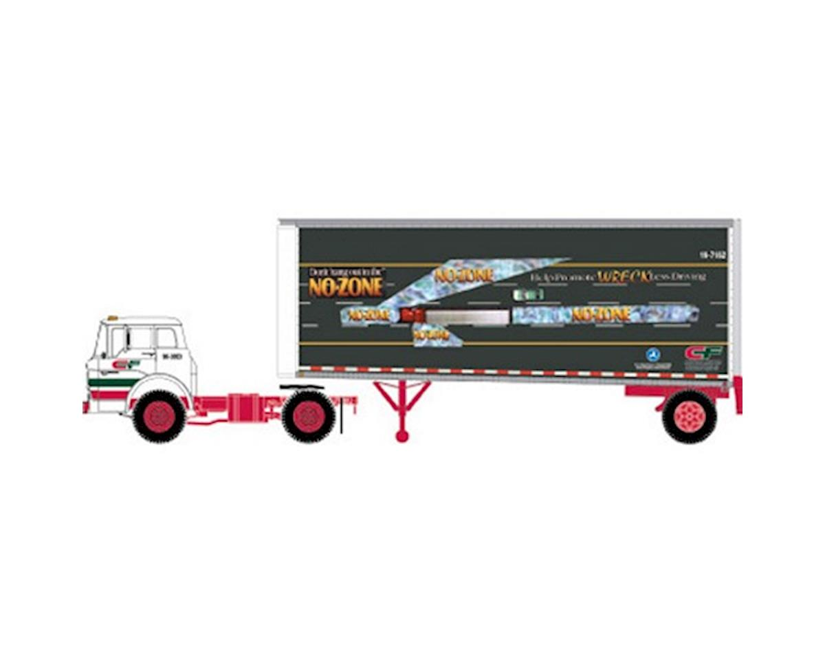 Athearn HO RTR Ford C w/28' Smooth Trailer, CF/No Zone