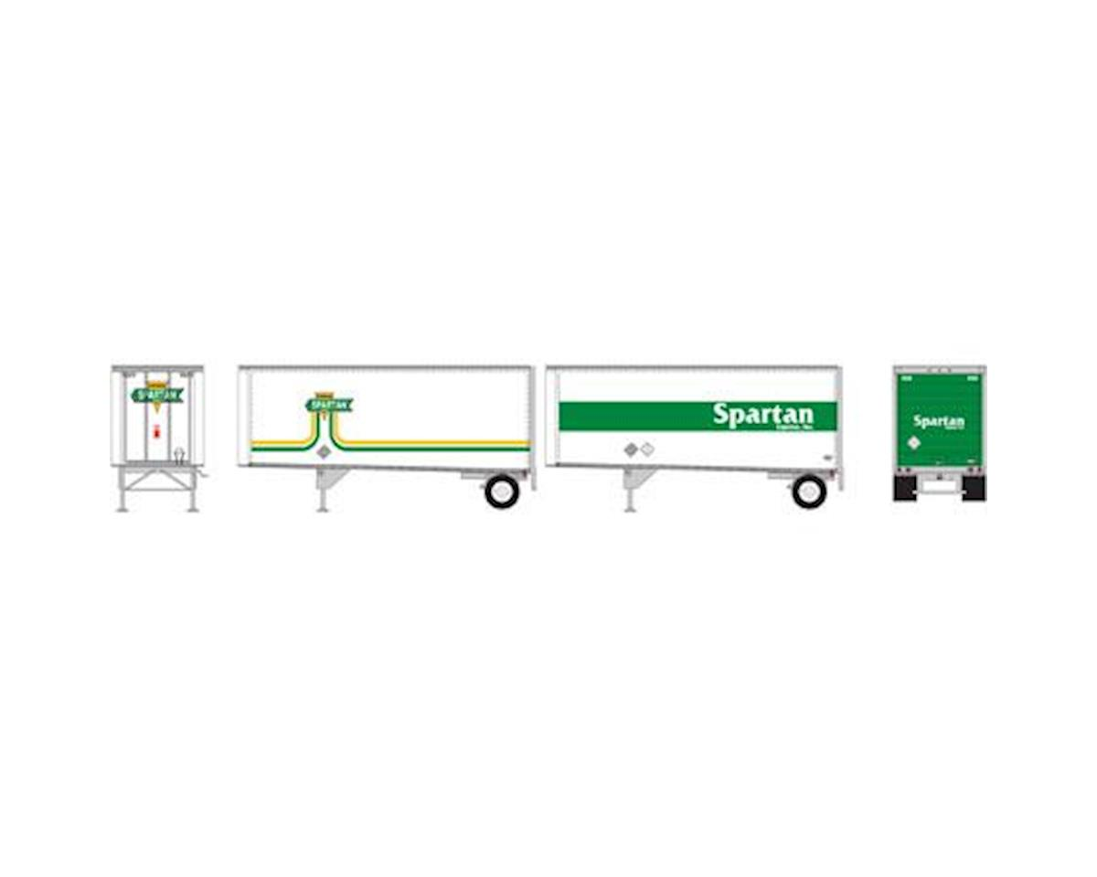 Athearn HO RTR 28' Trailers w/Dolly, Spartan (2)