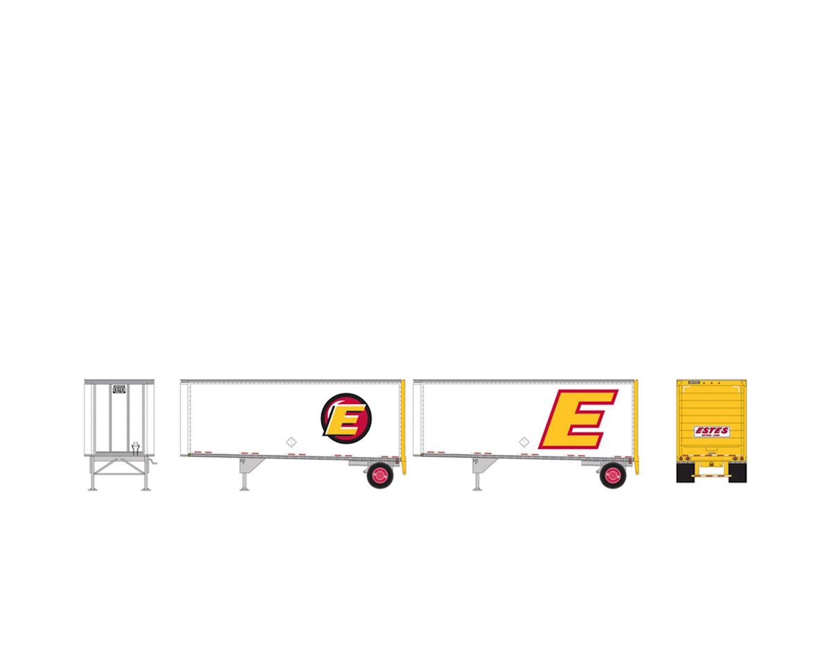HO RTR 28' Trailers w/Dolly, Estes (2) by Athearn