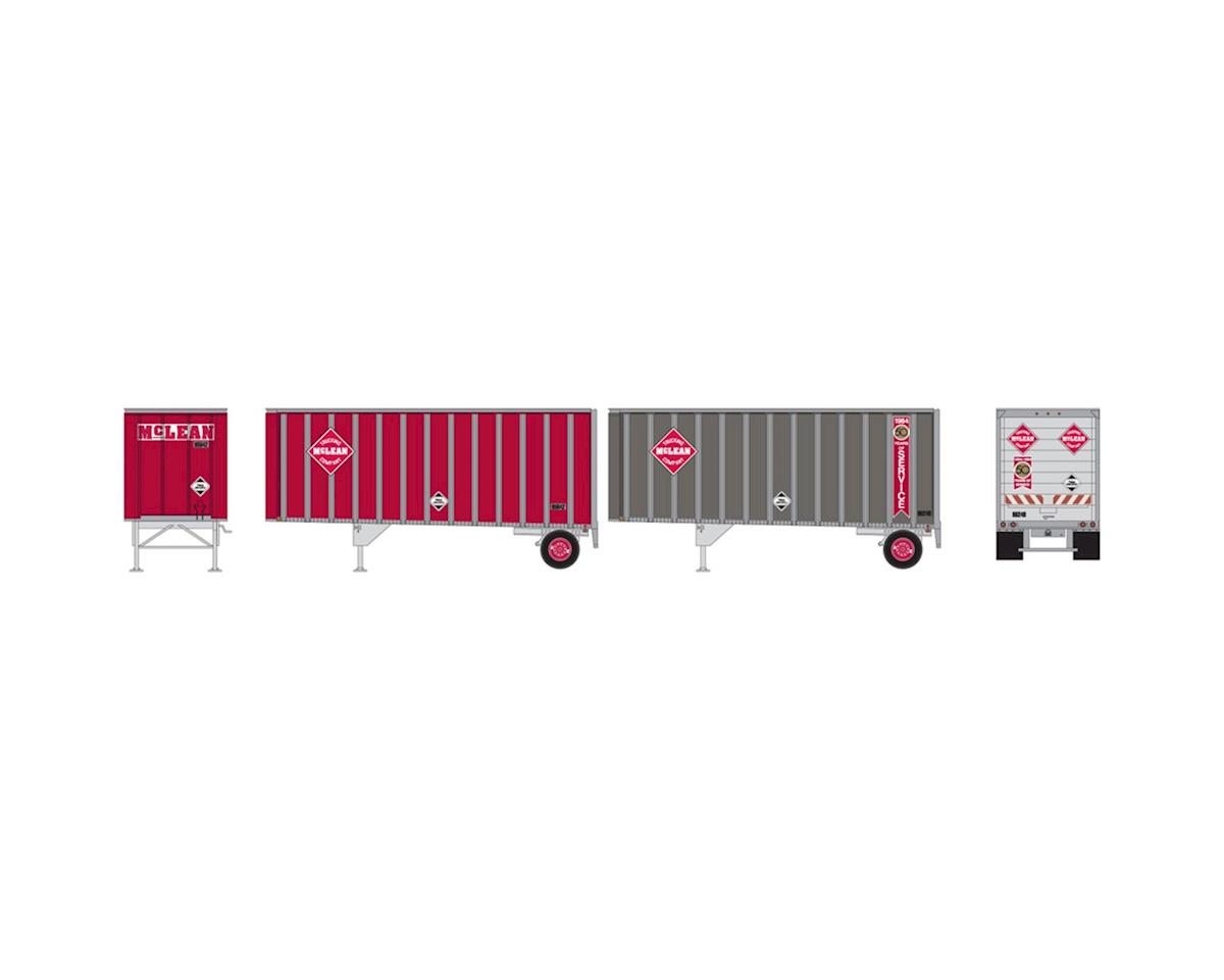 Athearn HO RTR 28' Trailers w/Dolly, McLean (2)