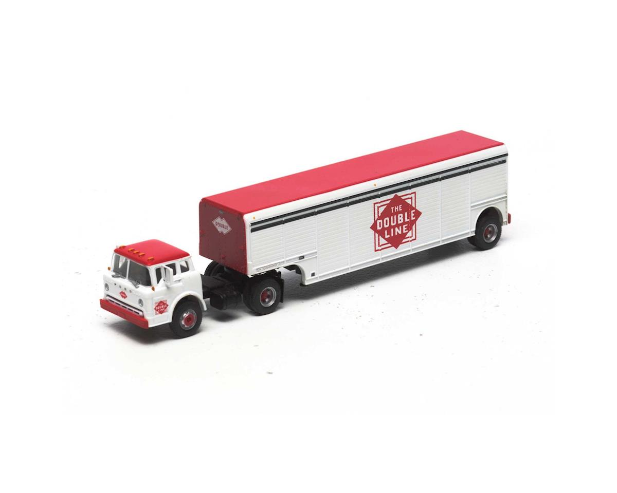 Athearn HO Ford C w/Beverage Trailer, Double Line Soda