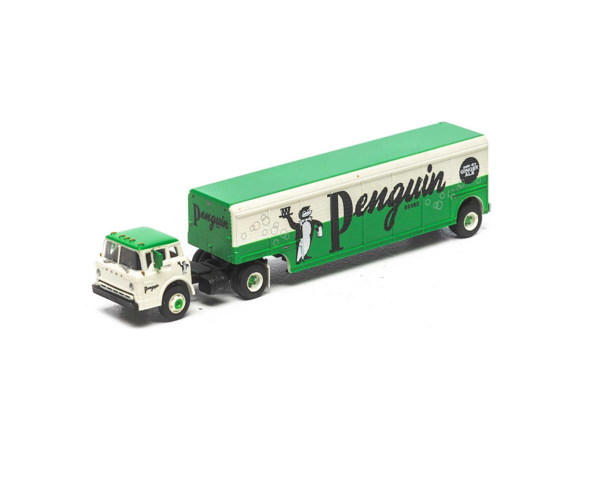 Athearn HO Ford C w/Beverage Trailer, Penguin Ginger Ale