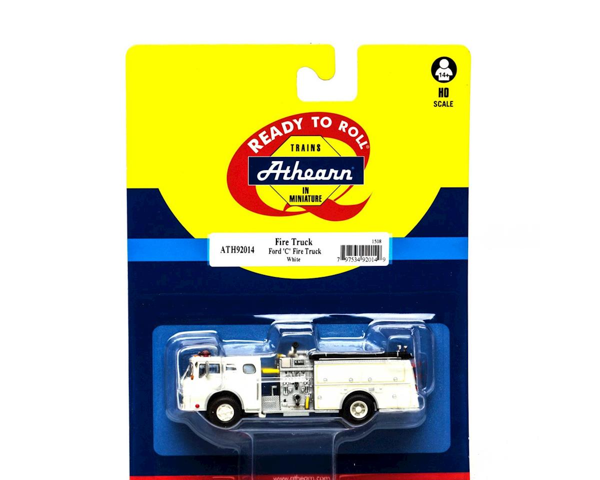 Athearn HO RTR Ford C Fire Truck, Wht