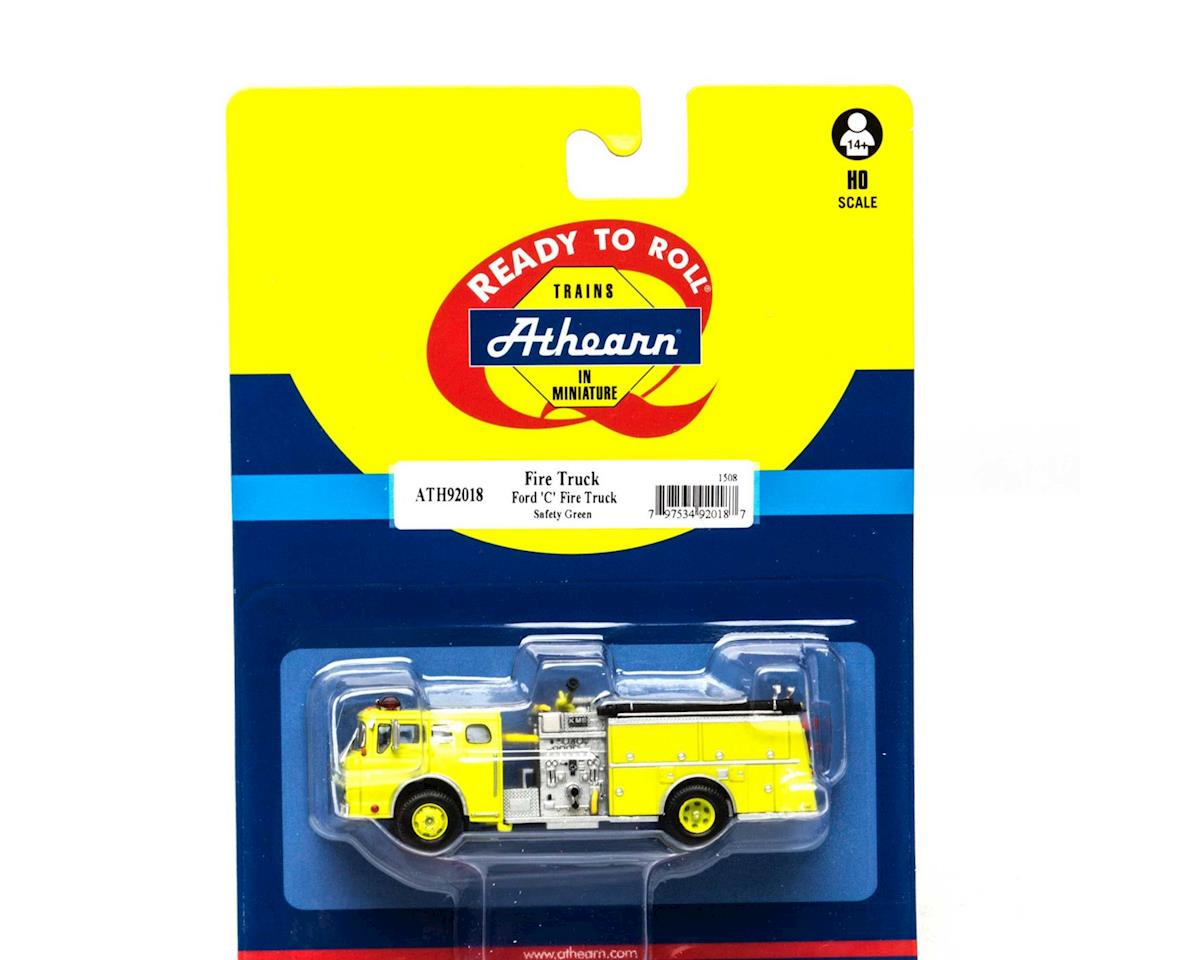 Athearn HO RTR Ford C Fire Truck, Safe Grn