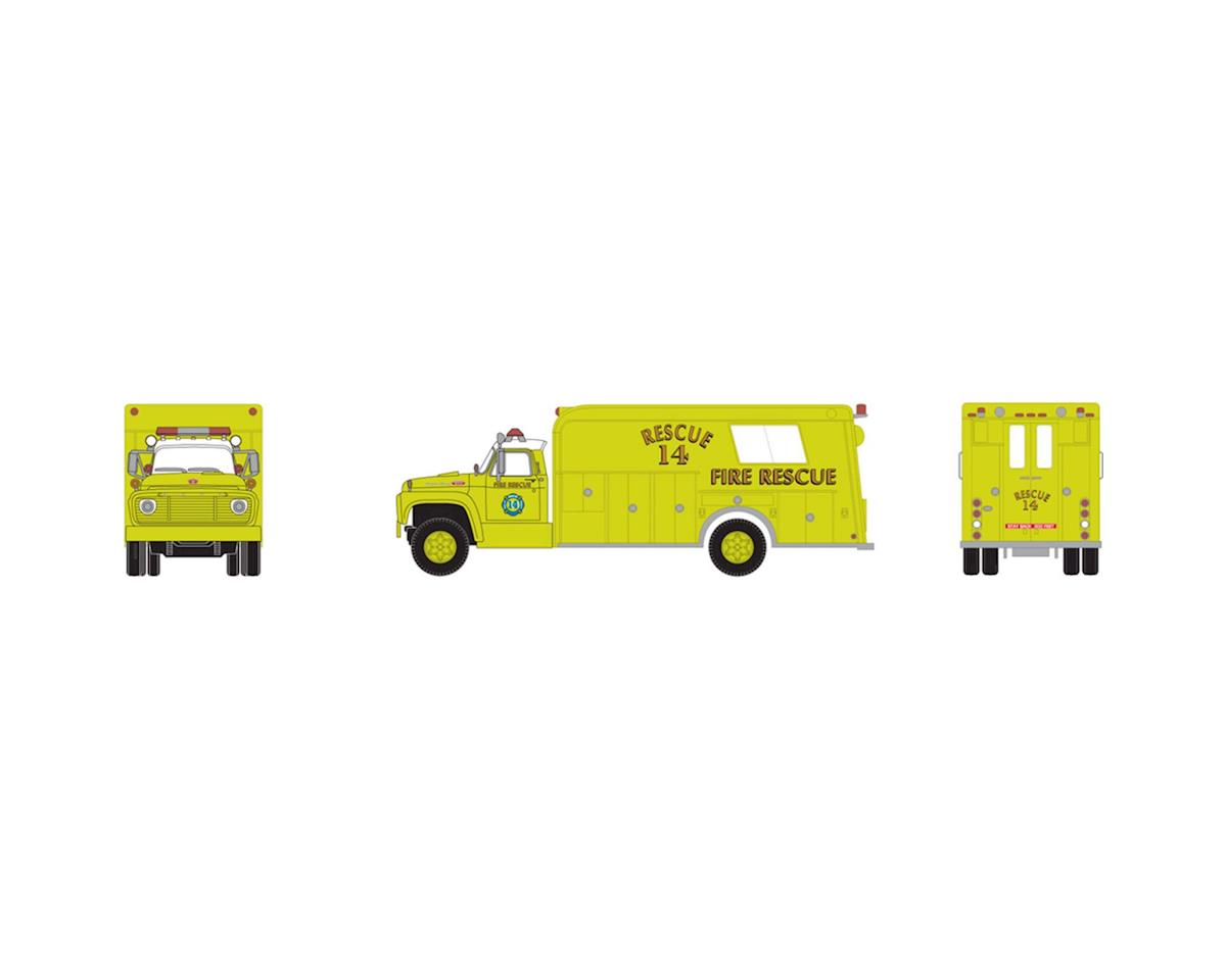 Athearn HO RTR Ford F-850 Rescue Truck, FPD #14