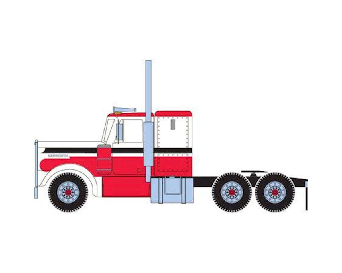 Athearn HO RTR Kenworth Tractor, Red/White/Black