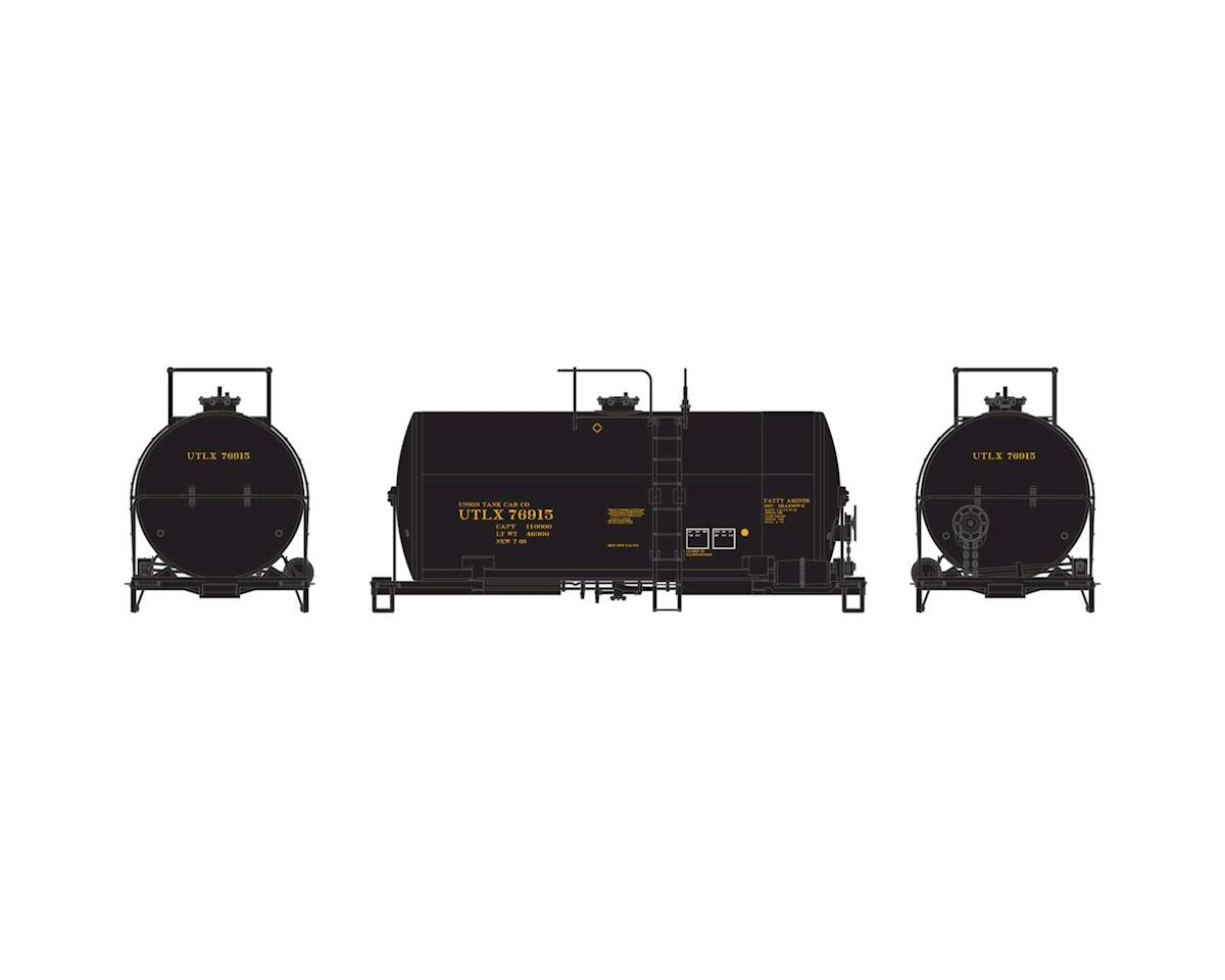Athearn HO RTR 30' NACC 8,000-Gal Tank, UTLX/Black #76915