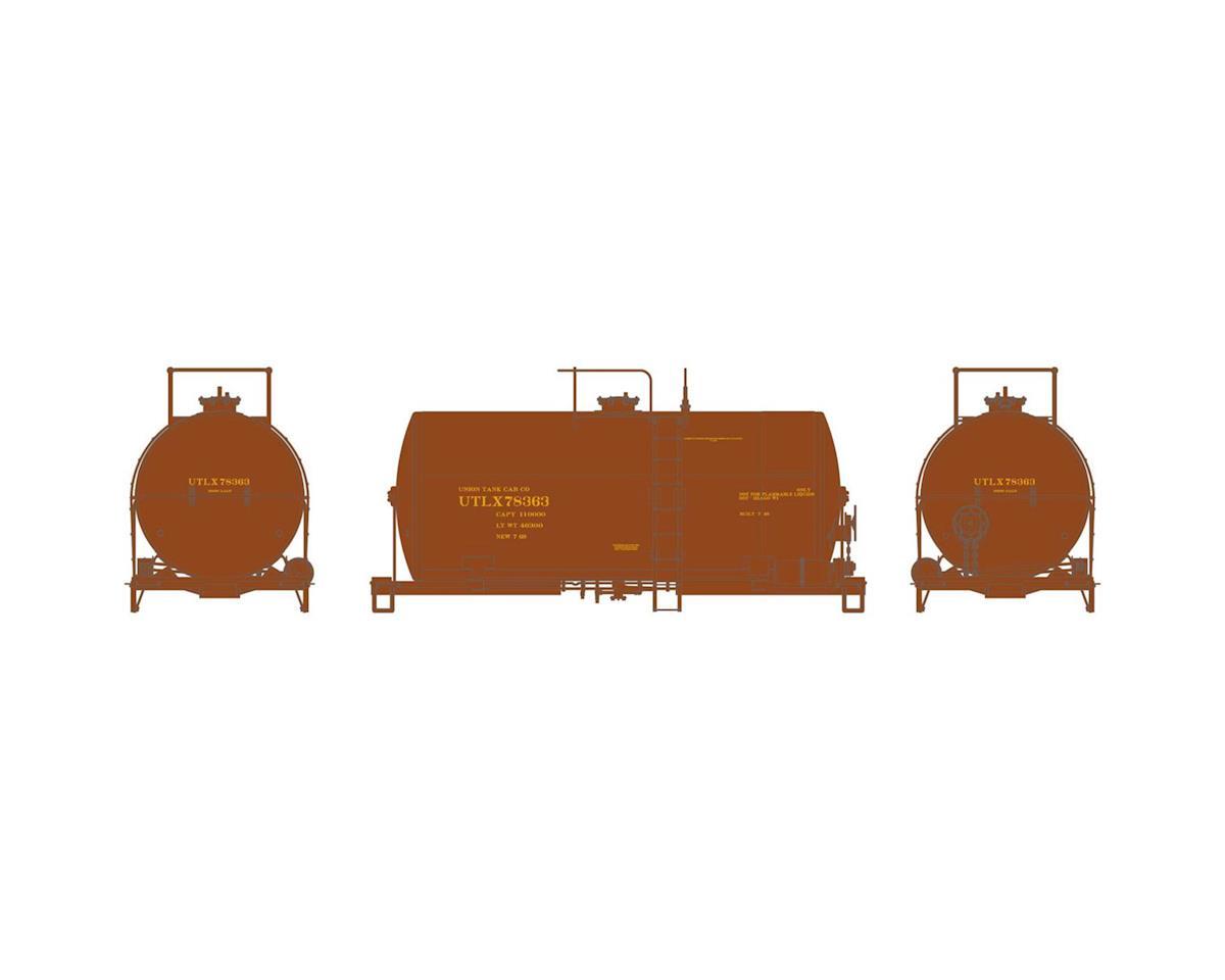 Athearn HO RTR 30' NACC 8,000-Gal Tank, UTLX/Brown #78363