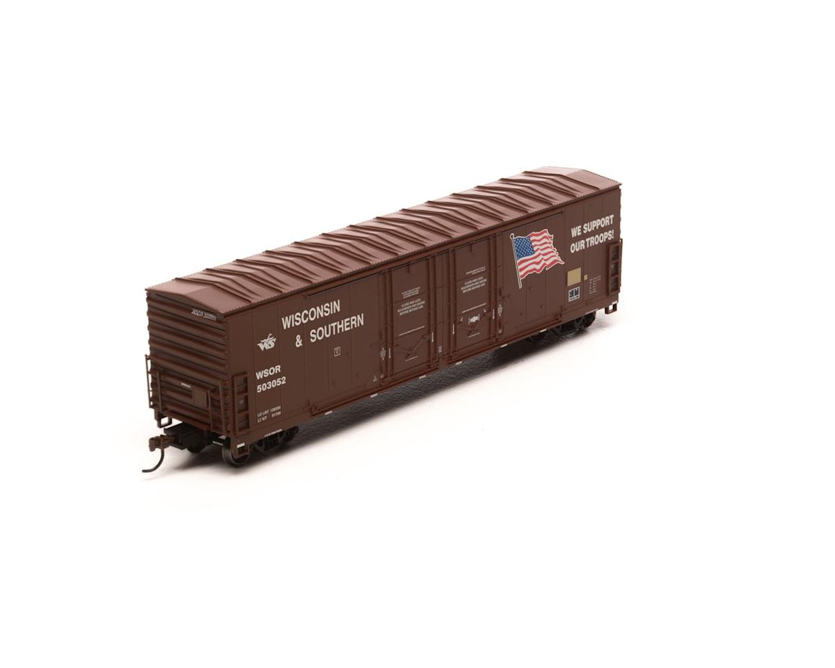 Athearn HO RTR 50' DD Plug Box, WSOR/Support Our Troops