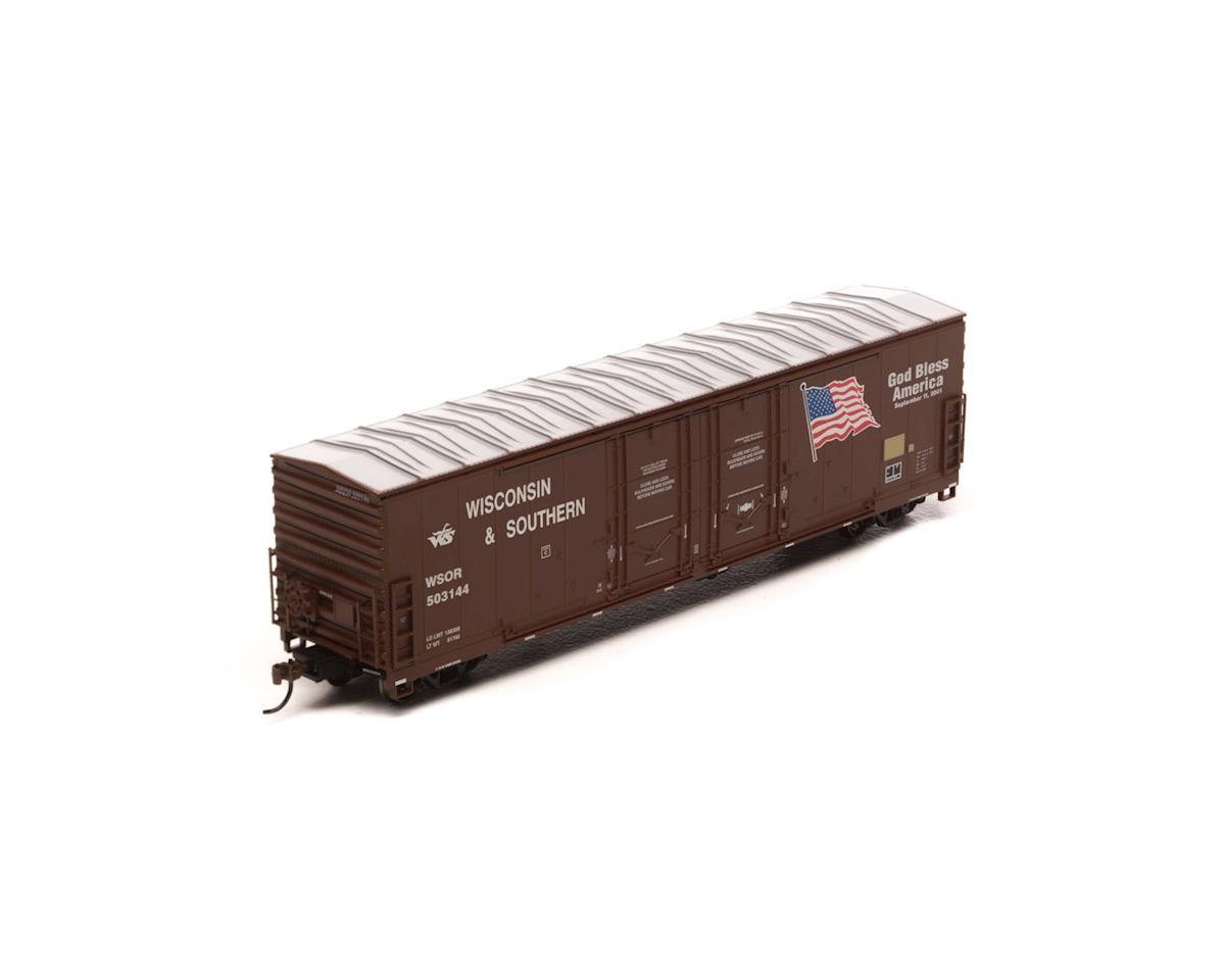 Athearn HO RTR 50' DD Plug Box, WSOR/Bless America