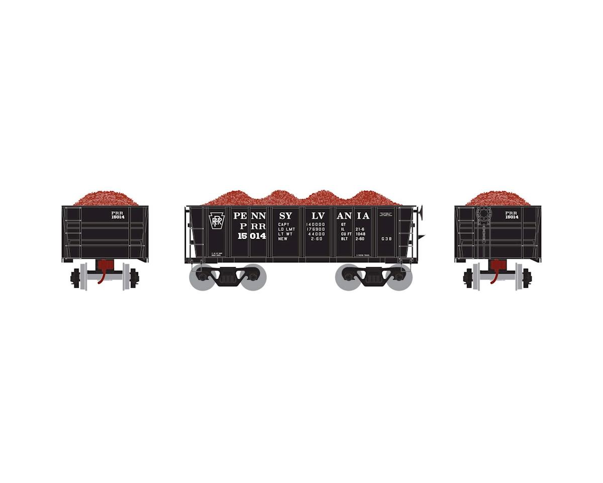 Athearn HO RTR 26' Ore Car Low Side w/Load, PRR #15014