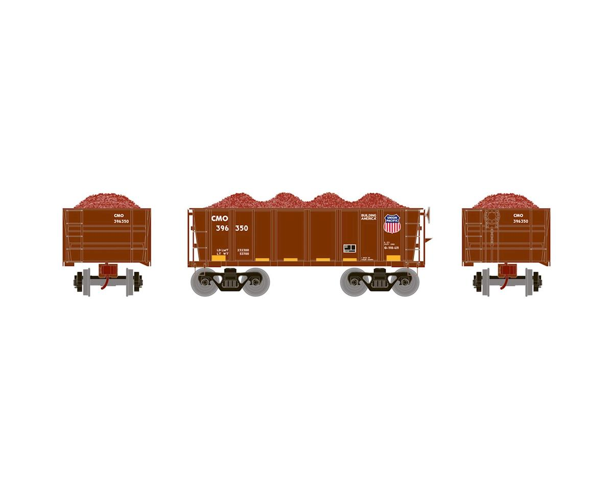 Athearn HO RTR 26' Ore Car Low Side w/Load, UP #396350