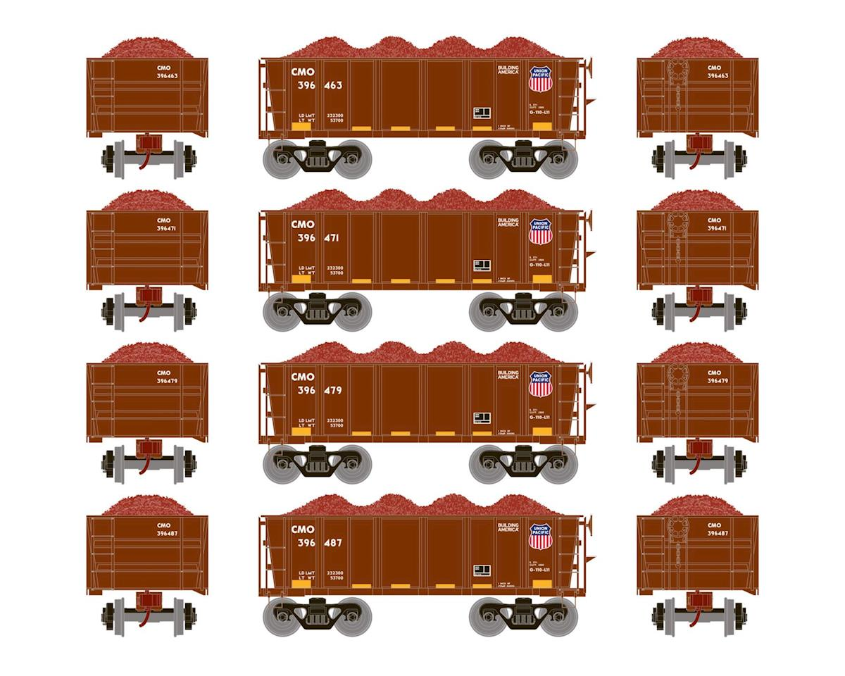 Athearn HO RTR 26' Ore Car Low Side w/Load, UP #3 (4)