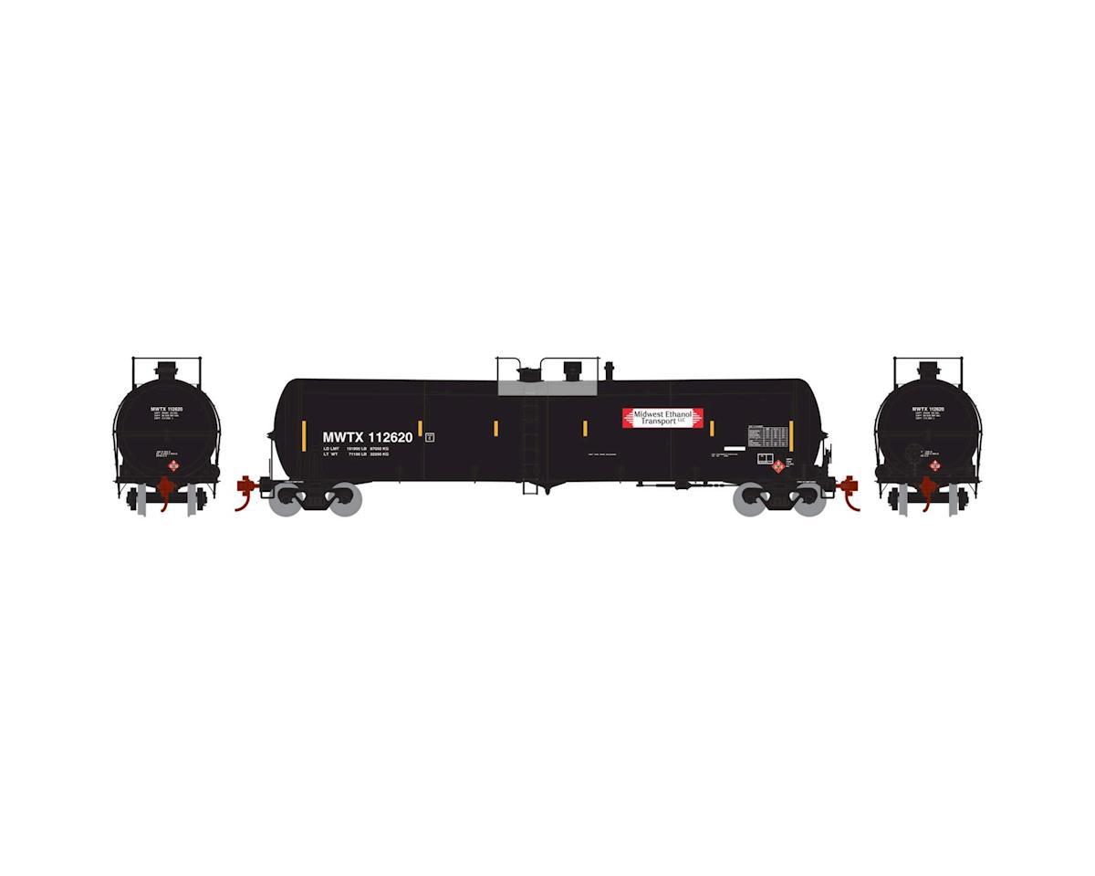 Athearn HO RTR 30,000-Gallon Ethanol Tank, MWTX #112620