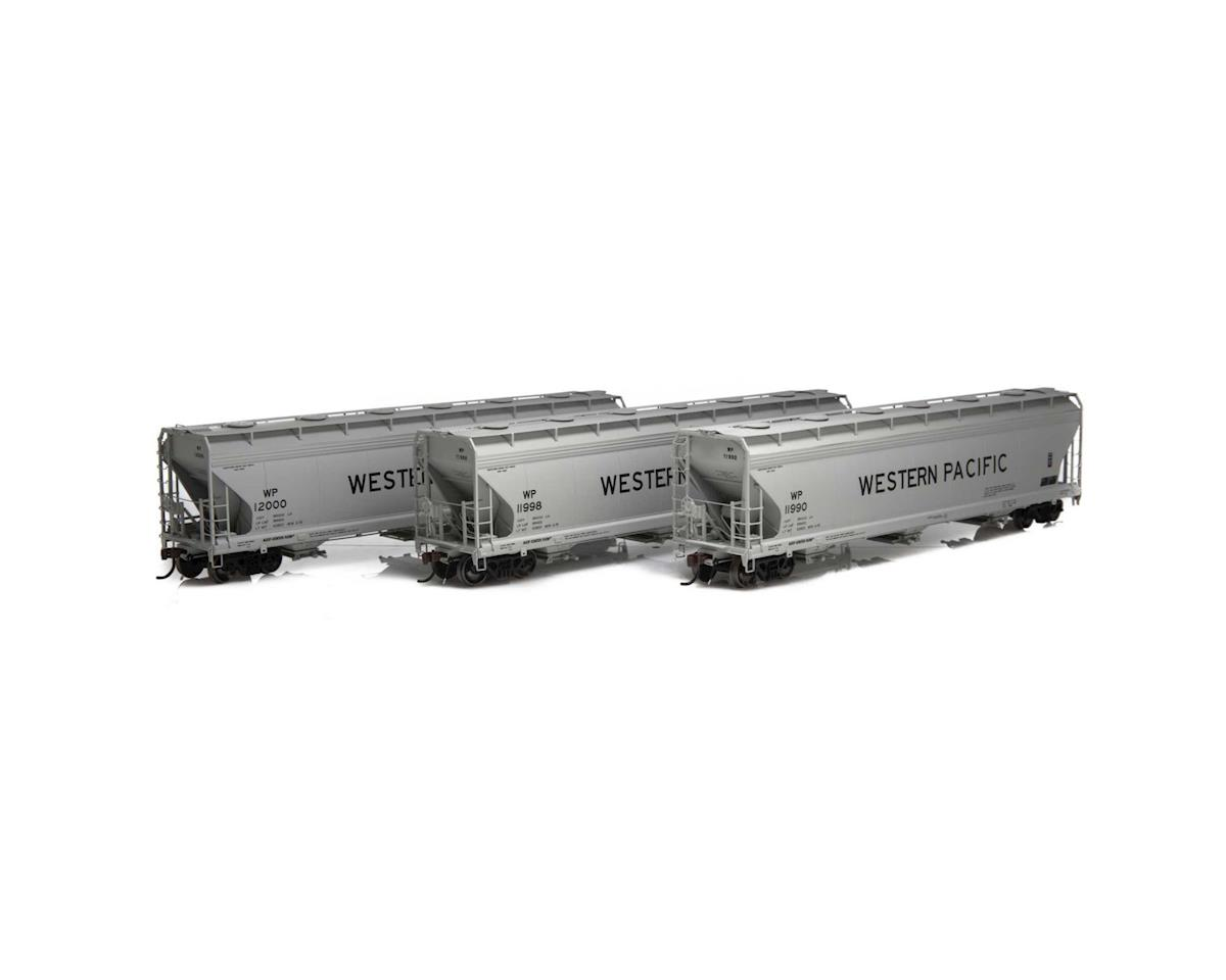 Athearn HO ACF 4600 3-Bay Centerflow Hopper, WP (3)