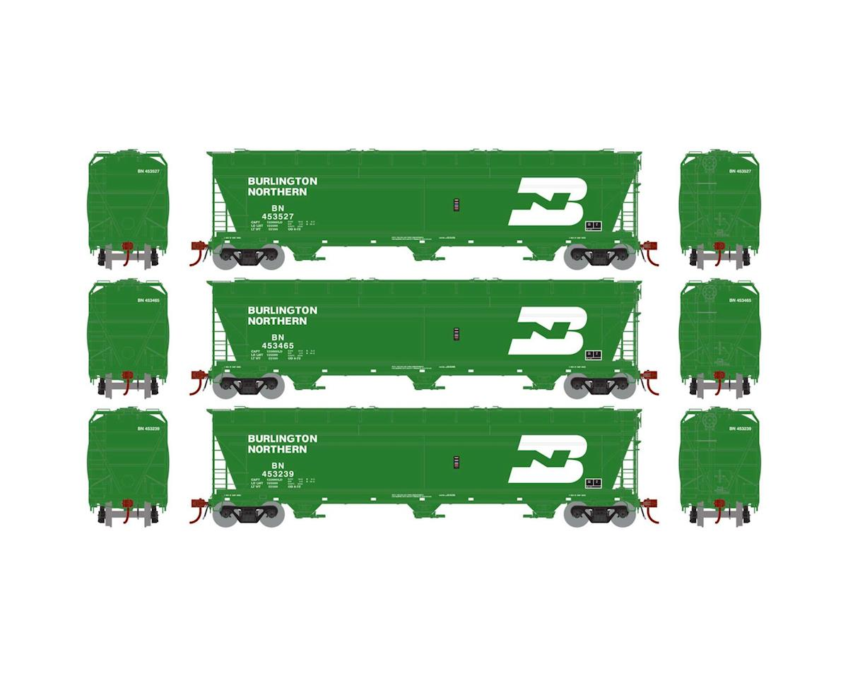 HO ACF 4600 3-Bay Centerflow Hopper, BN (3) by Athearn
