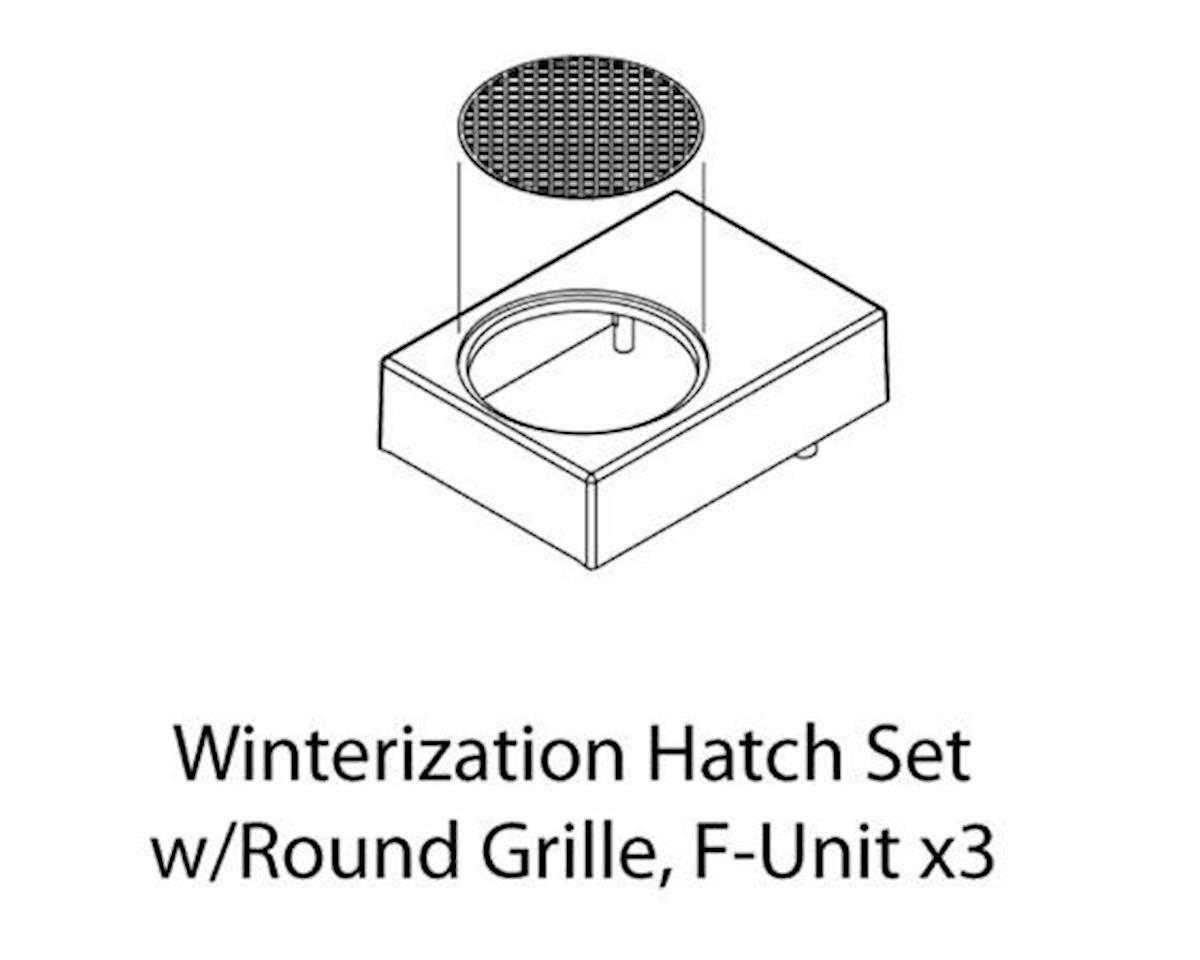 Athearn HO Winterization Hatch Set w/Round Grille, F-Unit