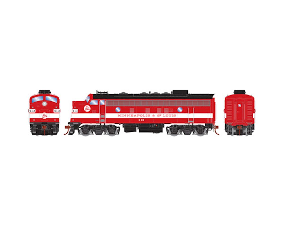 Athearn HO F7A, M&StL/Freight #413