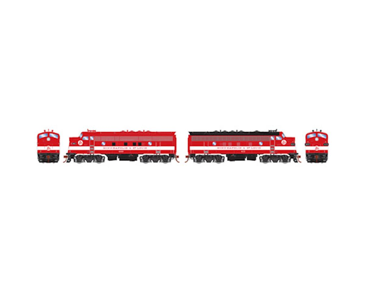 Athearn HO F3A/F7A, M&StL/Freight #400 #411