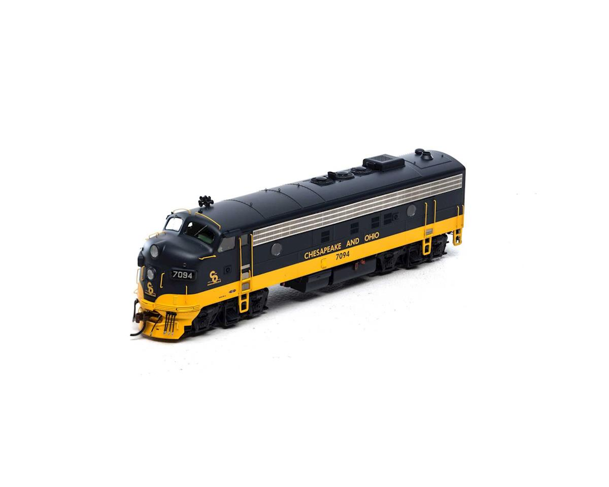 Athearn HO FP7A, C&O/Passenger #7094