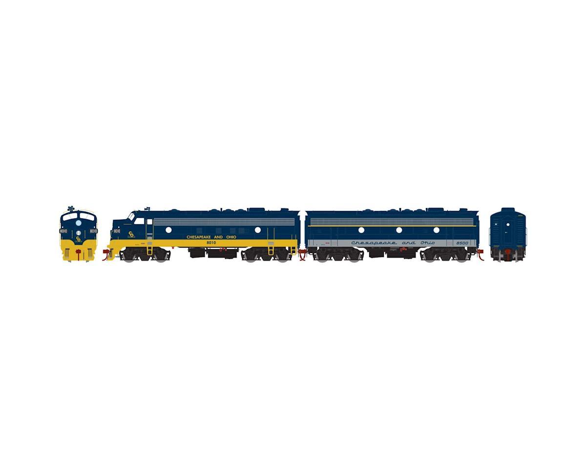 HO FP7A/F7B, C&O/Passenger #8010/#8500