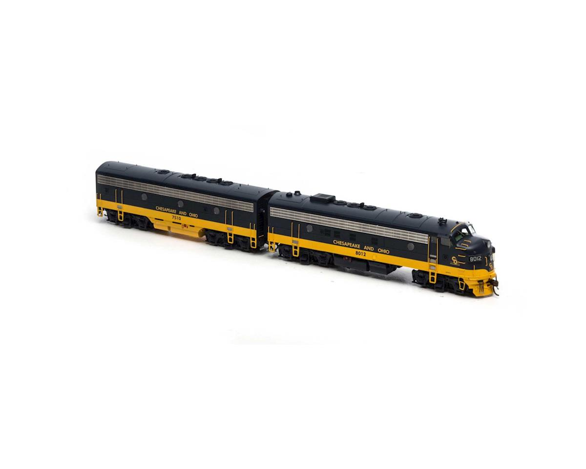 Athearn HO FP7A/F7B, C&O/Passenger/Freight #8012/#7510