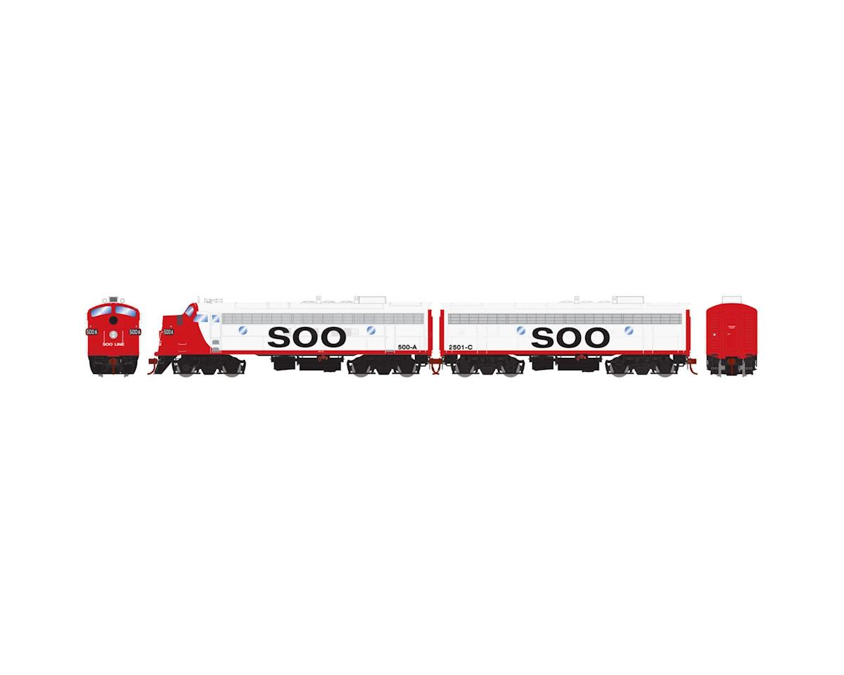 Athearn HO FP7A/F7B, SOO/Freight #500a #2501c