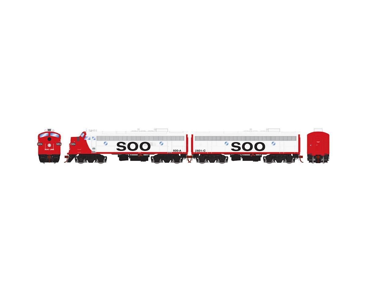 Athearn HO FP7A/F7B, SOO/Freight #500a #2501c