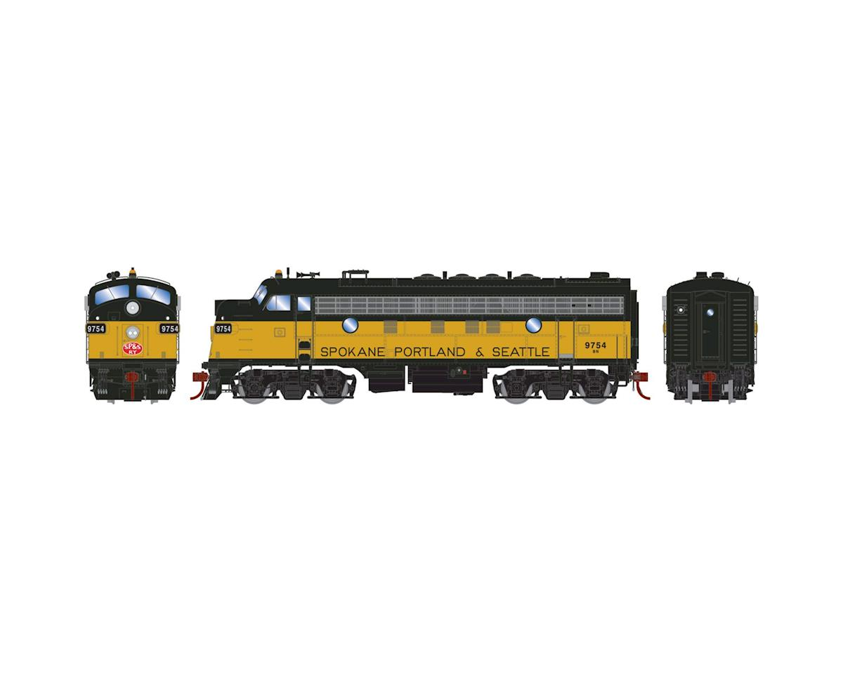 Athearn HO F7A, BN/SP&S Patch/Passenger #9754