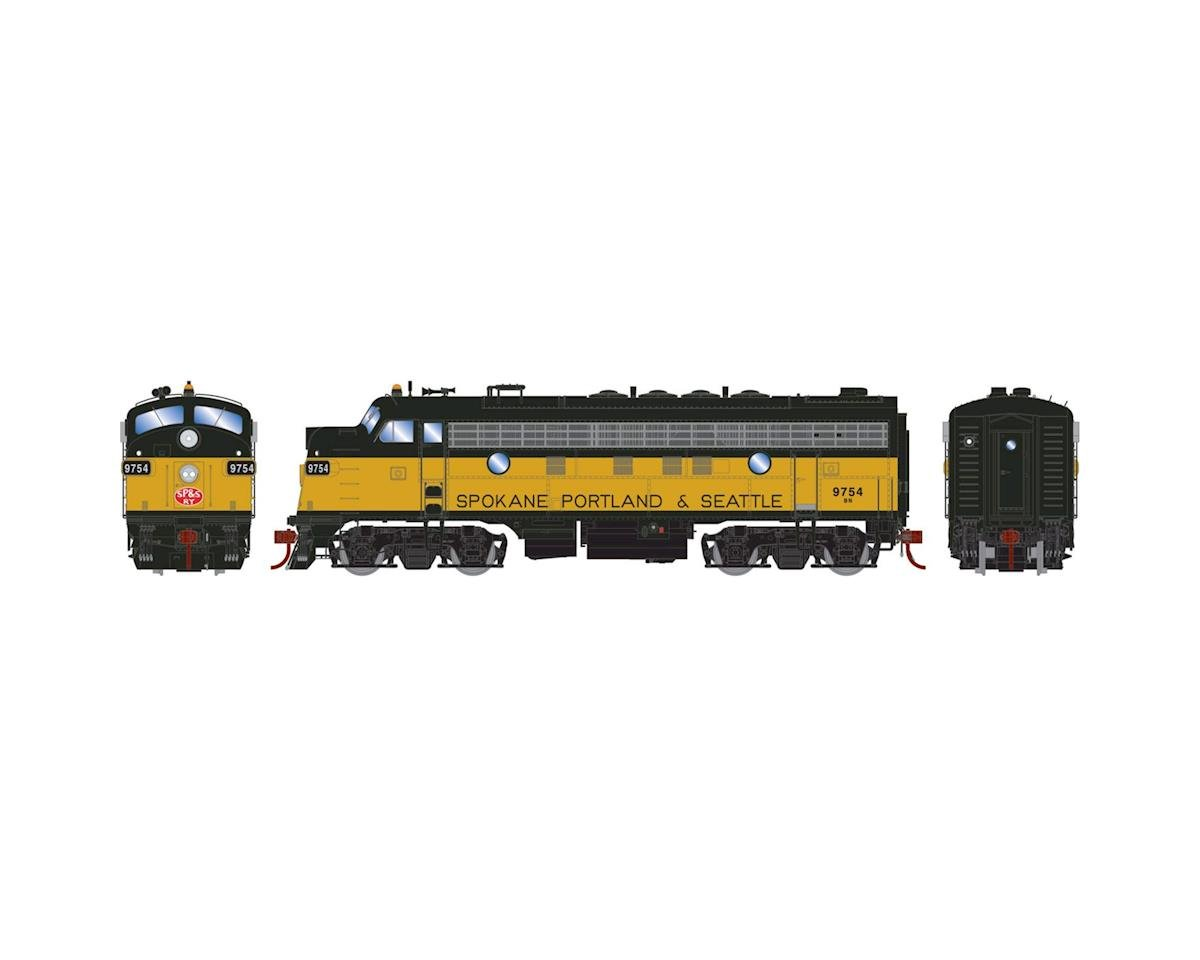 HO F7A, BN/SP&S Patch/Passenger #9754 by Athearn