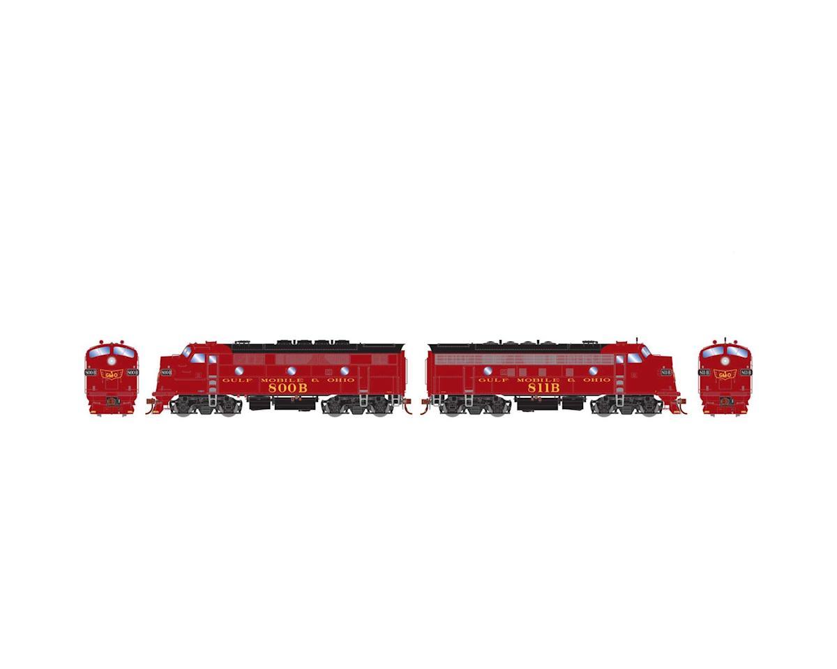 Athearn HO F3A/F7A, GM&O/Freight/Maroon #800b/#811b