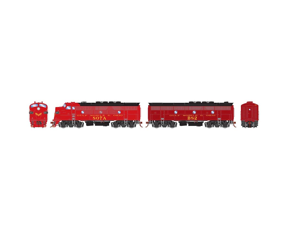 Athearn HO F3A/F3B, GM&O/Freight/Passenger 807a/B82